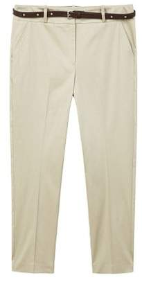 Violeta BY MANGO Belt cotton-blend pants