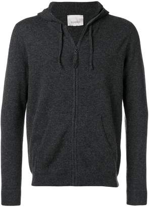 Laneus zip hooded cardigan