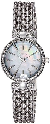 Aspen アスペンWomen 'sアナログMother of Pearl Dial Watch