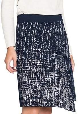 Nic+Zoe Printed Asymmetrical Skirt
