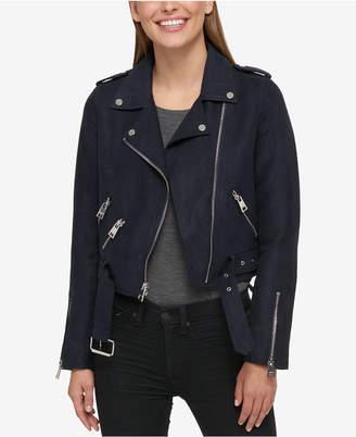 Levi's Cropped Faux-Suede Moto Jacket