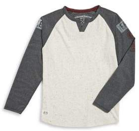 Buffalo David Bitton Boy's Speckled Splitneck Top