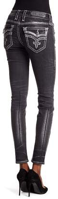 Rock Revival Metallic Sequin Skinny Jeans