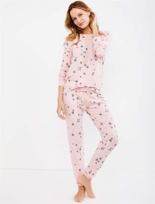 PJ Salvage Star Print Ankle Length Maternity Sleep Pant