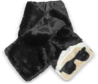 Karl Lagerfeld K/Ikonik Faux Fur Long Scarf