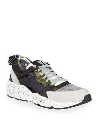P448 Alex Colorblock Mixed-Media Trainer Sneakers