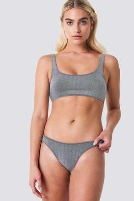 Galore X Na Kd Lurex Bikini Bottom Silver