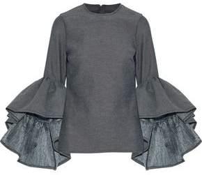 Marques Almeida Marques' Almeida Ruffled Cotton-Blend Twill Top