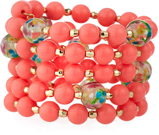 Emily and Ashley Greenbeads by Coral & Floral Bead Wrap Bracelet