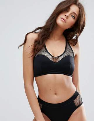 Pour Moi? Pour Moi Glamazon Mesh Half Pad Underwire Halter Bikini Top B-F Cup