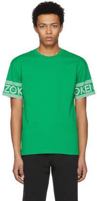 Kenzo Green Logo Sleeve T-Shirt