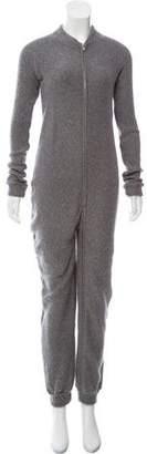 The Elder Statesman Cashmere Long Sleeve Jumpsuit