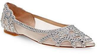 Badgley Mischka Gigi Embellished Pointed Toe Flats