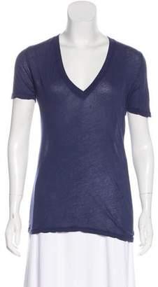 Monrow Semi-Sheer Short Sleeve Top