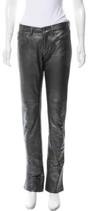 Ralph Lauren Black Label Ralph Lauren Leather Metallic Pants