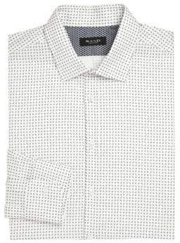 Saks Fifth Avenue Printed Cotton Dress Shirt