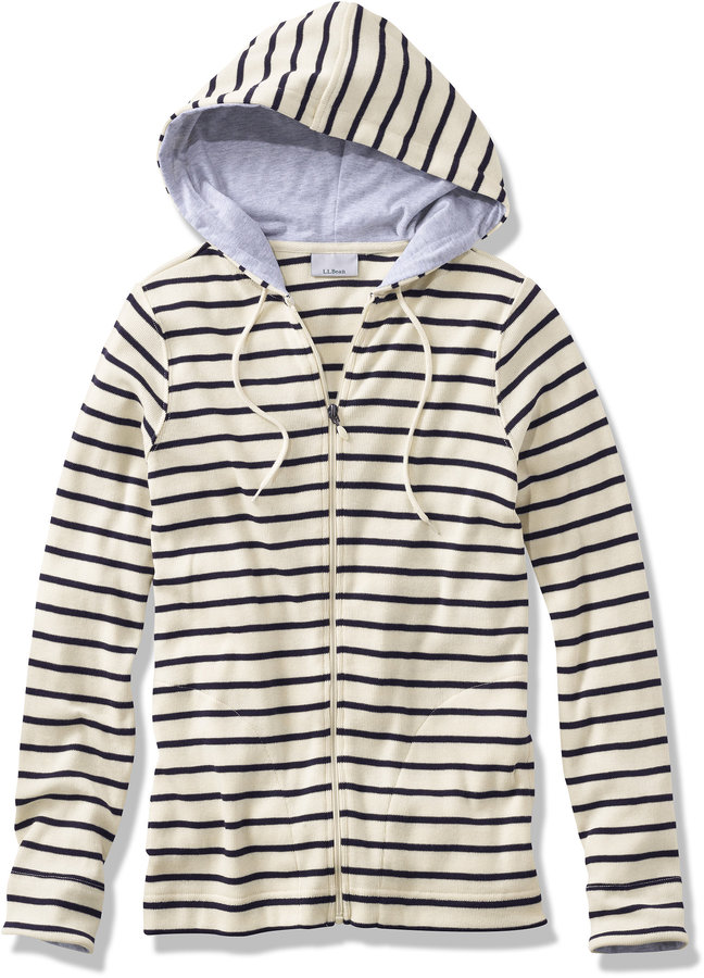 L l bean french sailor 39 s shirt hoodie shopstyle women for Striped french sailor shirt