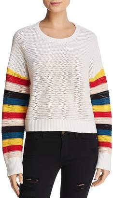 Honey Punch Rainbow-Sleeve Sweater
