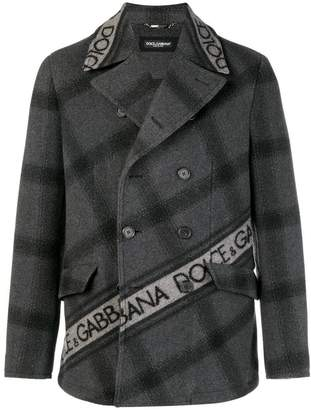 Dolce & Gabbana double-breasted logo coat