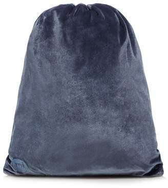 Mi-Pac MI PAC Petrol Blue Velvet Drawstring Back Pack