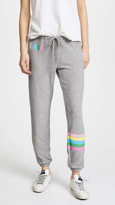 Chaser Rainbow Stripe Sweatpants