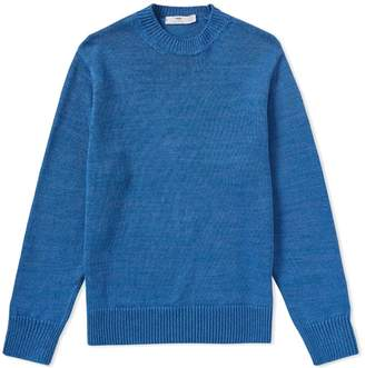Inis Meain Solid Linen Crew Knit
