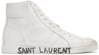Saint Laurent White Joe Sneakers