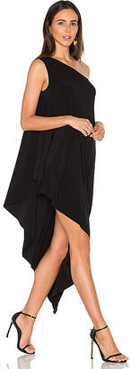 Norma Kamali One Shoulder Diagonal Tunic