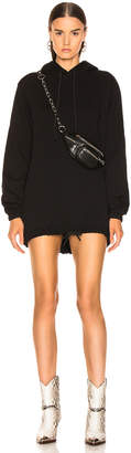 Cotton Citizen Milan Hoodie Dress in Jet Black | FWRD