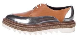 Brunello Cucinelli Leather Espadrille Oxfords