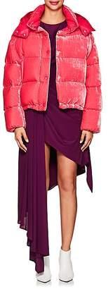 Moncler Women's Caille Velvet Puffer Coat