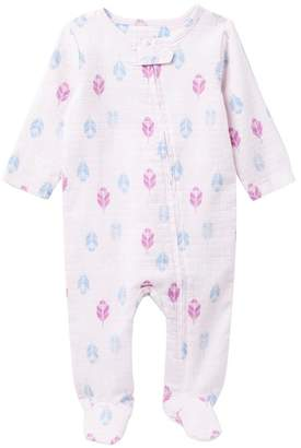 Aden Anais aden + anais Aden Long Sleeve Zip One-Piece (Baby Girls)