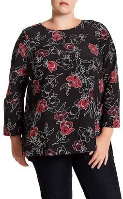 14th & Union Floral Tunic (Plus Size)