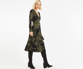 Oasis BLOOM WRAP D RING DRESS