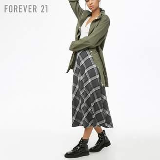Forever 21 (フォーエバー 21) - Forever 21 チェックパターンミディスカート