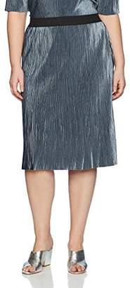 Junarose Women's Plus Size Velvet Below Knee Skirt