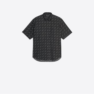 Balenciaga Cotton poplin shirt with allover logos