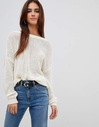 Missguided plunge v Back knitted sweater