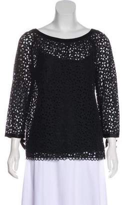 Milly Bow Accent Lace Top