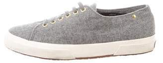 The Row Superga x Cashmere Low-Top Sneakers