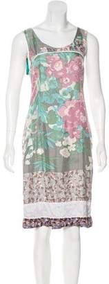 Dries Van Noten Abstract Print Midi Dress