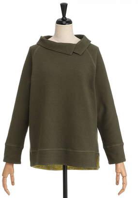 Simple Life (シンプルライフ) - シンプルライフ 衿 袖口 前裾裏フラワープリントプルオーバー