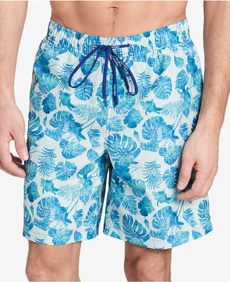 "Calvin Klein Men's Palm-Print 7"" Swim Trunks"