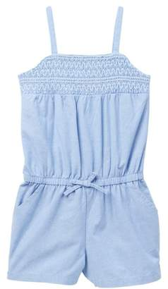 Nautica Smocked Chambray Romper (Big Girls)