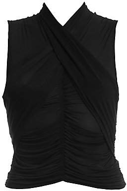 Unravel Project Women's Stocking Scarf Sleeveless Wrap Top