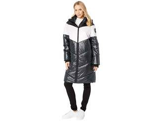 Juicy Couture Color Block Puffer Coat Women's Clothing