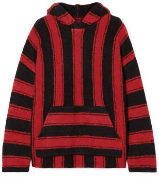 Amiri Baja Oversized Hooded Striped Wool-blend Sweater