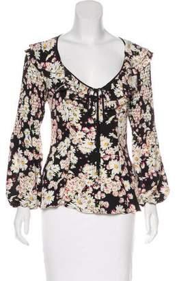 Blumarine Floral Print Silk Top