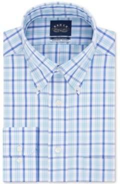 Eagle Men's Classic/Regular Fit Non-Iron Flex Collar Blue Check Dress Shirt