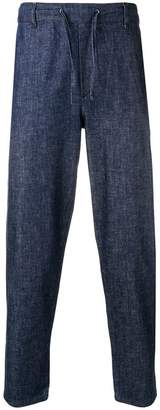 MAISON KITSUNÉ cropped City trousers